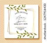 save the date card | Shutterstock .eps vector #1247916430