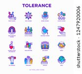tolerance thin line icons set ... | Shutterstock .eps vector #1247920006