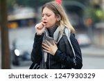 shot of illness young woman...   Shutterstock . vector #1247930329