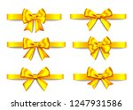 golden  gift  bows collection ... | Shutterstock .eps vector #1247931586