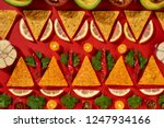 creative geometric food pattern ... | Shutterstock . vector #1247934166