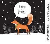 cute fox vector illustration... | Shutterstock .eps vector #1247936239