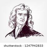 isaac newton vector sketch... | Shutterstock .eps vector #1247942833