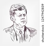 John F. Kennedy Vector Sketch...