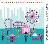 circus fun fair | Shutterstock .eps vector #1247944246