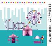 circus and fair | Shutterstock .eps vector #1247945863