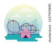 circus and fair | Shutterstock .eps vector #1247945890
