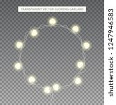 glowing garland in the shape of ... | Shutterstock .eps vector #1247946583