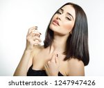 girl with perfume  young... | Shutterstock . vector #1247947426