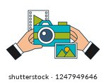hand using camera photographic | Shutterstock .eps vector #1247949646