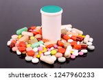 different colorful pills ... | Shutterstock . vector #1247960233