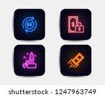 neon set of innovation  money... | Shutterstock .eps vector #1247963749