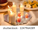 festive candles on the wedding... | Shutterstock . vector #1247964289