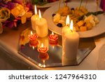 festive candles on the wedding... | Shutterstock . vector #1247964310