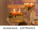 festive candles on the wedding... | Shutterstock . vector #1247964313