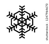 snowflake icon. beautiful six... | Shutterstock .eps vector #1247964670