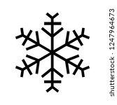 snowflake icon. beautiful six... | Shutterstock .eps vector #1247964673