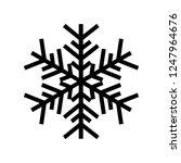 snowflake icon. beautiful six... | Shutterstock .eps vector #1247964676