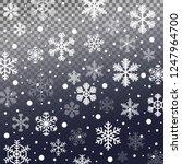 winter snowfall pattern.... | Shutterstock .eps vector #1247964700