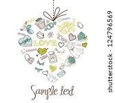 valentine heart . vector | Shutterstock .eps vector #124796569