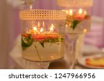 festive candles on the wedding... | Shutterstock . vector #1247966956