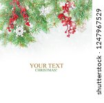 christmas background. happy new ... | Shutterstock . vector #1247967529