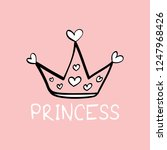 princess text and cute crown  ... | Shutterstock .eps vector #1247968426