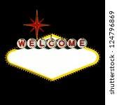 empty las vegas sign on black... | Shutterstock . vector #124796869