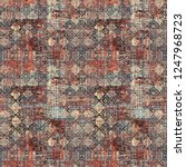seamless pattern ethnic design. ... | Shutterstock . vector #1247968723
