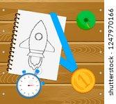 sporting achievement. goal and... | Shutterstock . vector #1247970166