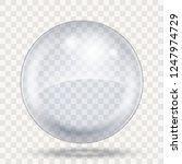 big transparent bubble template ... | Shutterstock .eps vector #1247974729