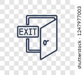 cinema exit icon. trendy linear ... | Shutterstock .eps vector #1247977003