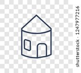 hut icon. trendy linear hut... | Shutterstock .eps vector #1247977216