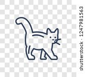 kitten icon. trendy linear... | Shutterstock .eps vector #1247981563