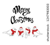 merry christmas greeting card...   Shutterstock .eps vector #1247983003