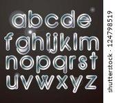 sparkle elegant silver letters... | Shutterstock .eps vector #124798519