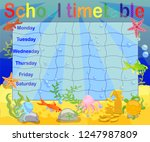 school timetable with marine... | Shutterstock .eps vector #1247987809