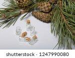 glass bottles with corks. for... | Shutterstock . vector #1247990080