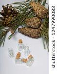 glass bottles with corks. for... | Shutterstock . vector #1247990083
