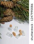 glass bottles with corks. for... | Shutterstock . vector #1247990086