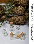 glass bottles with corks. for... | Shutterstock . vector #1247990089