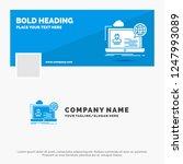 blue business logo template for ... | Shutterstock .eps vector #1247993089