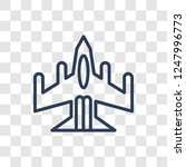 air force icon. trendy linear... | Shutterstock .eps vector #1247996773