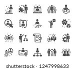 management icons. set of... | Shutterstock .eps vector #1247998633