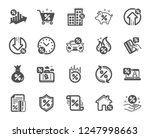 loan icons. set of investment ... | Shutterstock .eps vector #1247998663