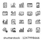 graph icons. set of chart... | Shutterstock .eps vector #1247998666