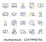 education line icons. laptop ...   Shutterstock .eps vector #1247998756