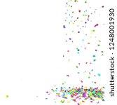 bright and colorful confetti...   Shutterstock . vector #1248001930