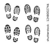 boot prints collection.vector... | Shutterstock .eps vector #1248002746