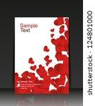 card valentine's day heart.... | Shutterstock .eps vector #124801000
